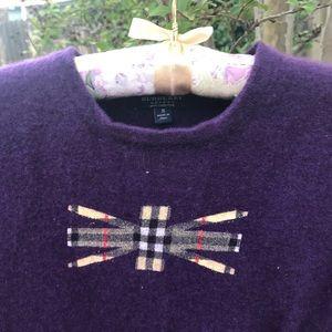 Burberry London Purple Cashmere Sweater